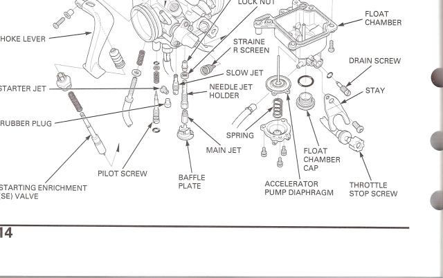 04 05 Trx 450r Starter Jet Plug Honda Trx 450r